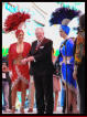 Las Vegas Mayor Oscar Goodman with his Showgirls