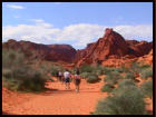 Hiking Valley of Fire where you can see ancient Native American petroglyphs